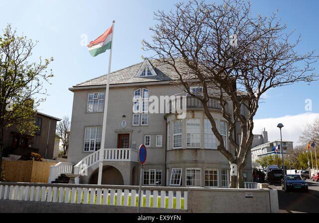 Botschaft von Indien in Reykjavik Island Stockbild