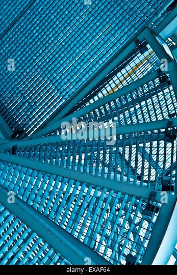 Metalltreppe Abstraktion Stockbild