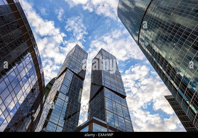 Wolkenkratzer der modernen Stadt Moskau International Business und Finanzen Entwicklung, Moskau, Russland, Europa - Stock-Bilder