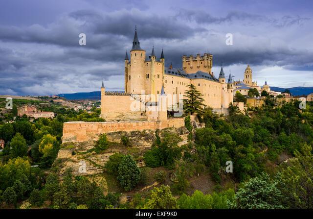 Segovia, Spanien Altstadt auf der Burg. Stockbild