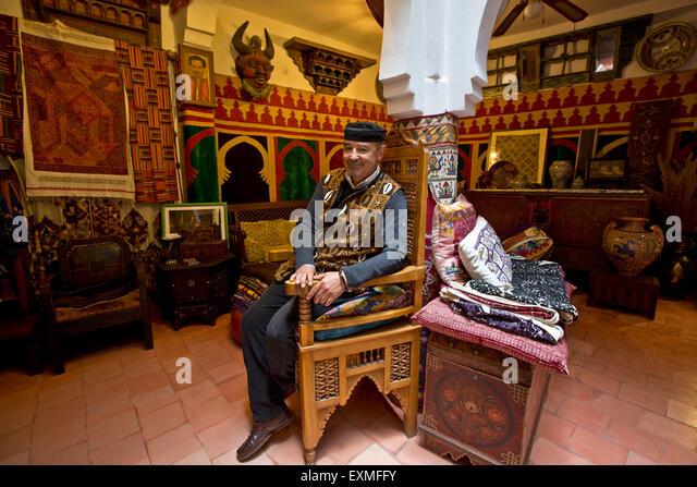 Tanger, antiquarische MAJID Stockbild