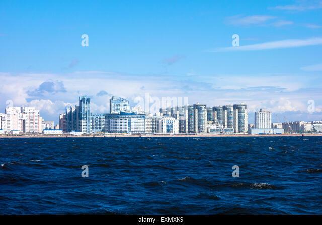 Neue Strandpromenade, Sankt Petersburg, Russland Stockbild