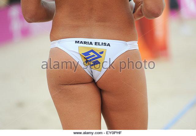 Meisterschaften Beach Volleyball 2015 den Haag die Niederlande 4. Juli 2015 In der Damen-Weltmeisterschaft wird Stockbild