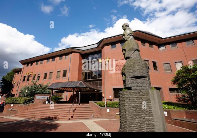 Queen Elizabeth 2 Justizpalast Crown Court Birmingham UK Stockbild