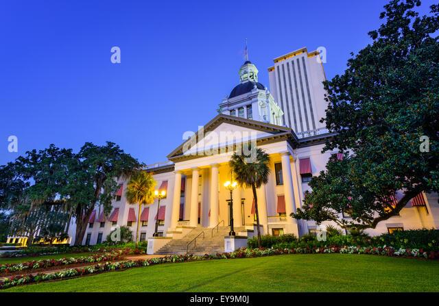 Tallahassee, Florida, USA am alten und neuen Capitol. Stockbild