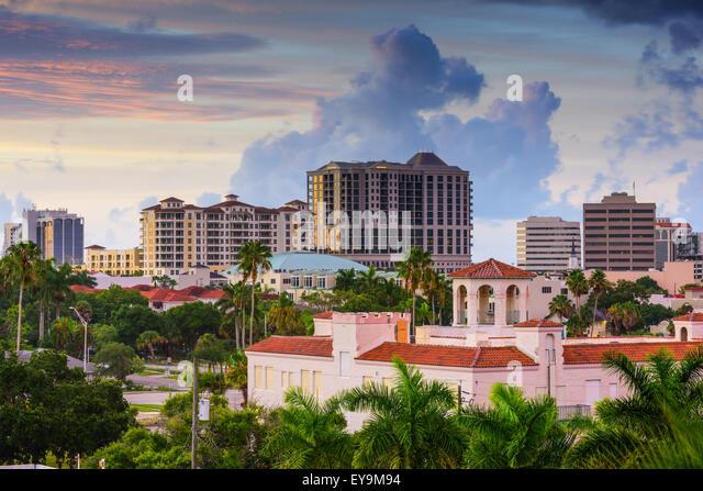 Sarasota, Florida, USA Skyline der Innenstadt. Stockbild