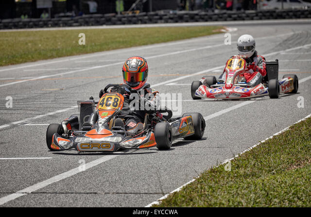 go kart track stockfotos go kart track bilder alamy. Black Bedroom Furniture Sets. Home Design Ideas