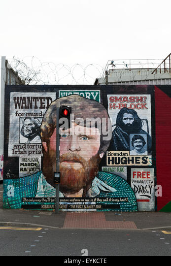 Belfast republikanischen Wandbild Stockbild