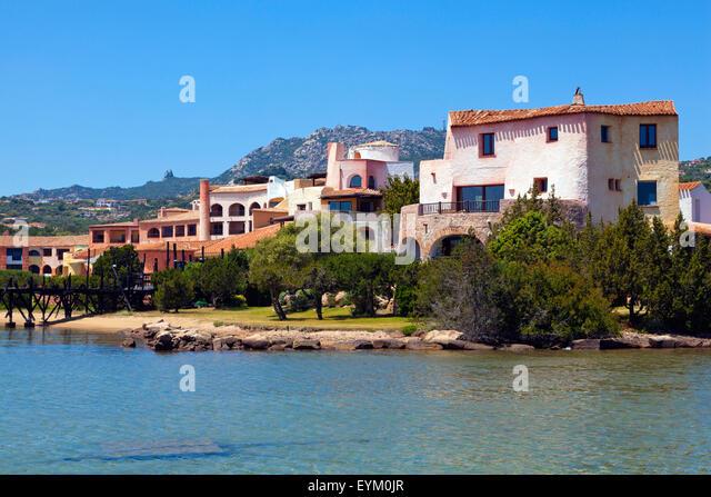 Hotelanlage-Costa Smeralda Stockbild