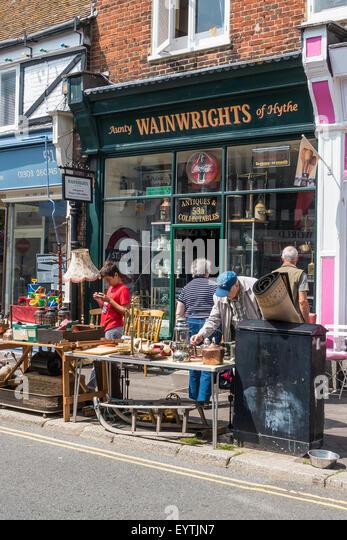 Antiquitäten und Sammlerstücken BricaBrac Junk-e-Shop High Street Hythe Kent UK Stockbild