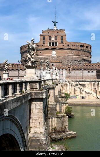 Castel Sant Angelo, Rom, Latium, Italien, Europa Stockbild