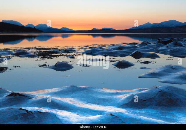 Polar Dawn, Norwegen Troms Stockbild