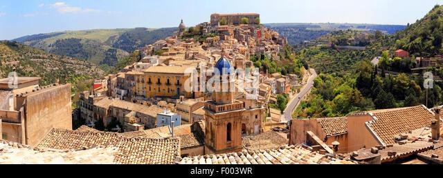 spätbarocken Altstadt Berg Stadt Ragusa, Italien, Sizilien, Ragusa Stockbild