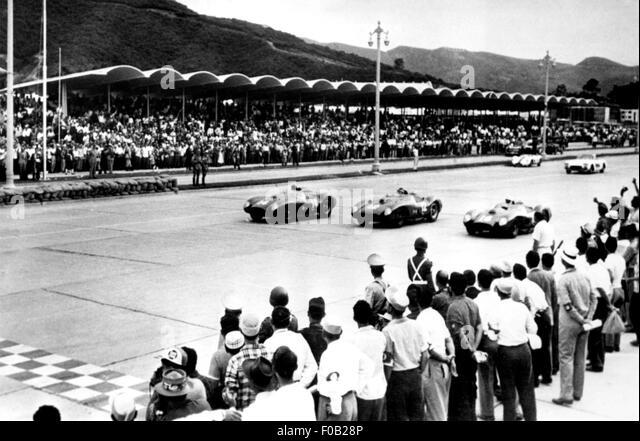 WeltSportscar Meisterschaft in Caracas 1957 Stockbild