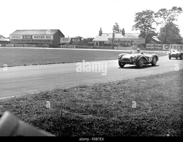 Aston Martin DB3S Racing in Aintree Stockbild