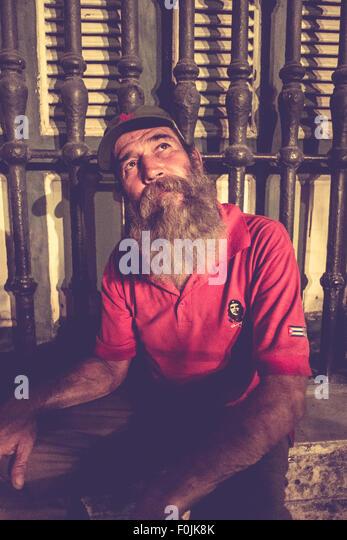 Fidel Castro Lookalike, Havanna, Kuba Stockbild