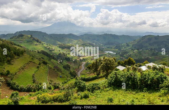 Virunga Berge, Uganda, Afrika Stockbild