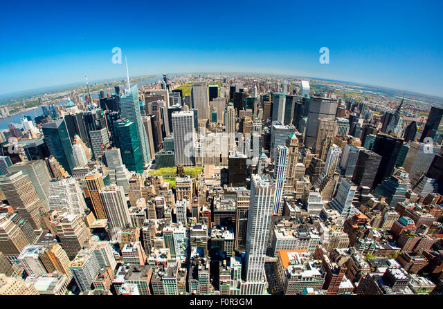 Skyline von New York City Stockbild