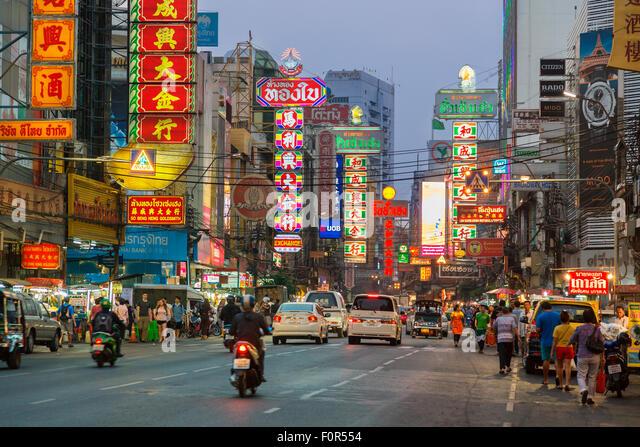 Thailand, Bangkok, Chinatown, Yaowarat Road Stockbild