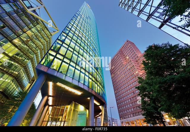 Deutschland, Berlin: Zeitgenössische Architektur am Potsdamer Platz Stockbild