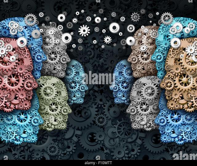 Soziale Unternehmen und Menge Internet Medienkommunikation marketing Web-Konzept als eine Gruppe von Menschen gemacht, Stockbild
