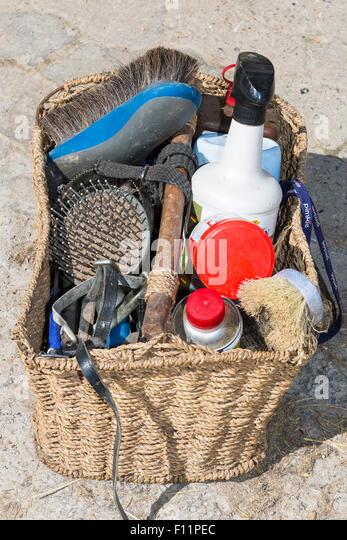 Inländische Pferd Grooming kit Stockbild