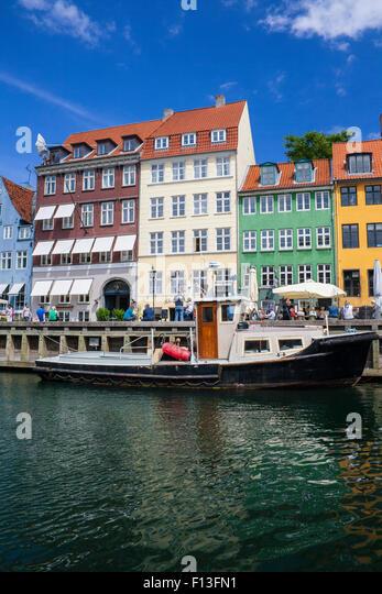 Nyhavn in Kopenhagen, Dänemark Stockbild