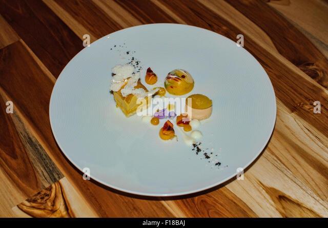 Fine Dining - Dessert Stockbild
