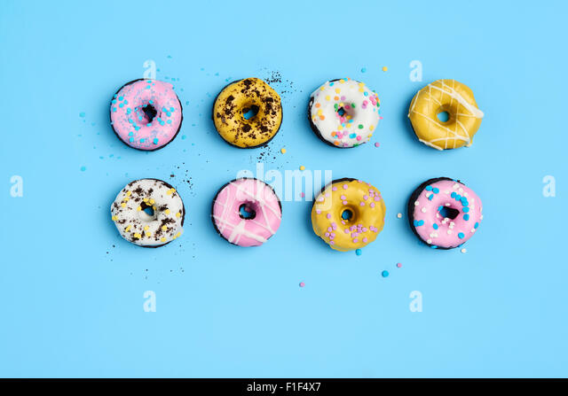 Oreo Cookie Donuts. Stockbild