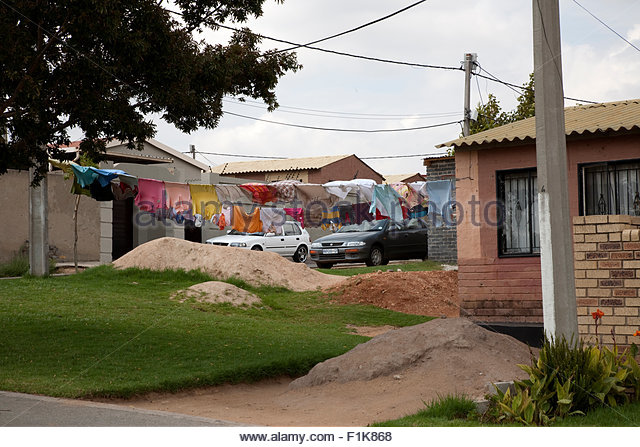 Gemeinde Haus, Alexandra, Gauteng Stockbild