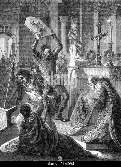 Die Reformation in Westeuropa während des 16. Jahrhunderts führten zu einer Kluft im Christentum zwischen Stockbild