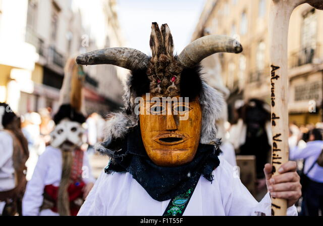 Internationale Festival iberischen Maske, Lissabon, Portugal, Europa Stockbild