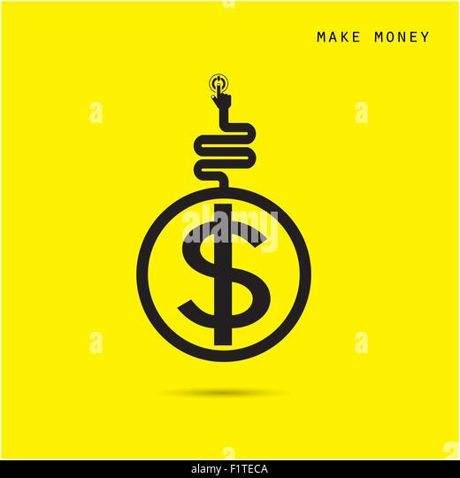 Kreative Finanz- und Logo Design Vorlage, Business und Industrie-Konzept. Stockbild