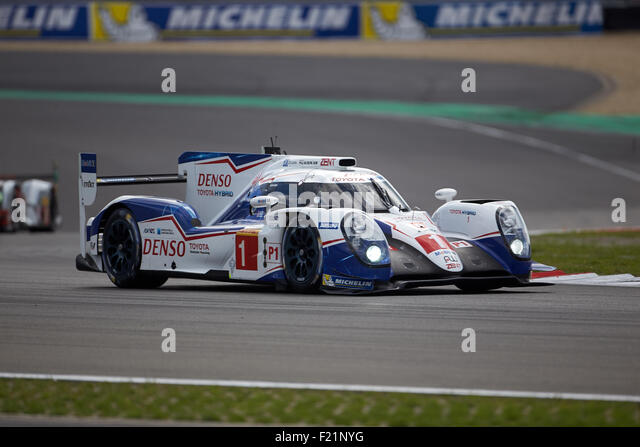 FIA WEC 6 Stunden-Rennen Nürburgring, Toyota Racing Anthony Davidson, Sebastien Buemi, Kazuki Nakajima, Toyota Stockbild