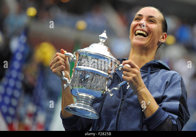 Flushing Meadows, New York, USA. 12. Sep, 2015. US Open Tennis Championships. Damen Einzel Finale. Pennetta gegen Stockbild