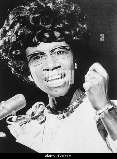 Shirley Chisholm, afrikanische amerikanische Kongressabgeordnete aus Brooklyn, New York City. Ca. 1973. (CSU_2015 Stockbild