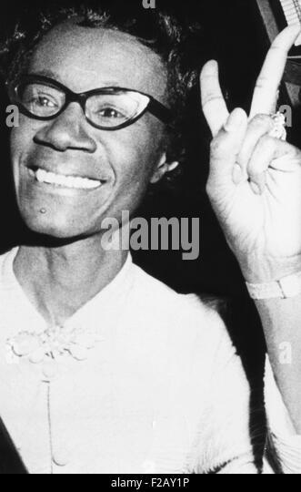 Shirley Chisholm, erste afroamerikanische Frau, die in den Kongress gewählt. Sie vertreten überwiegend Stockbild