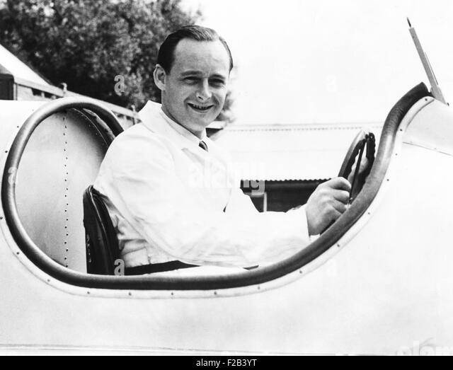 "Donald Campbell, Sohn des Rennsports große Sir Malcolm Campbell, in seines Vaters Schnellboot, ""Blue Bird"". Stockbild"