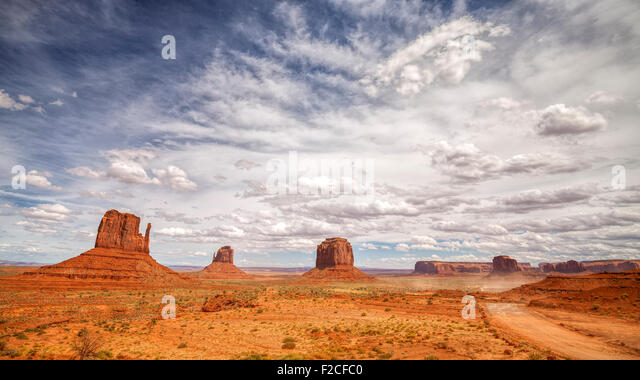 Monument Valley Navajo Tribal Park, Utah, USA. Stockbild