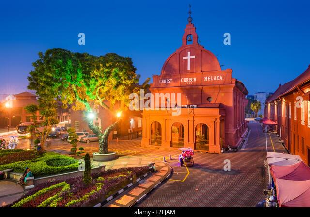 Christuskirche Melaka in Melaka, Malaysia. Stockbild