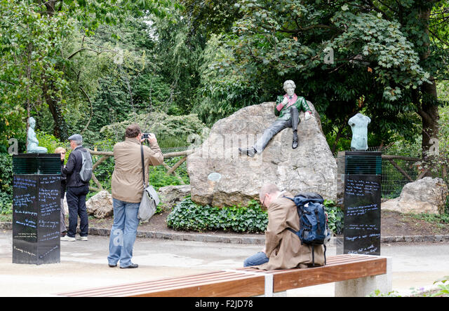 Oscar Wilde Statue, Merrion Square, Dublin, Irland Stockbild