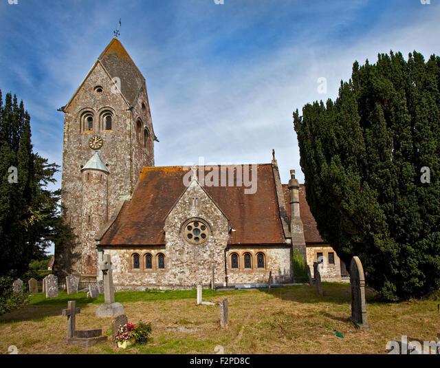 Kirche St. Peter und St. Paul, Hawkley, Hampshire, England Stockbild