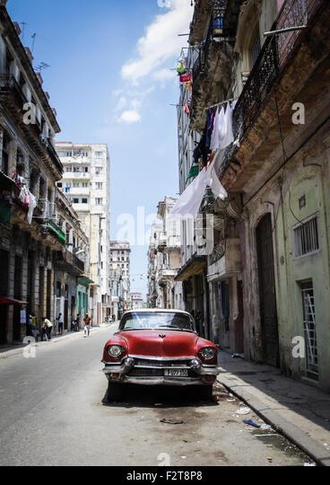 Oldtimer-Havanna, Kuba Stockbild