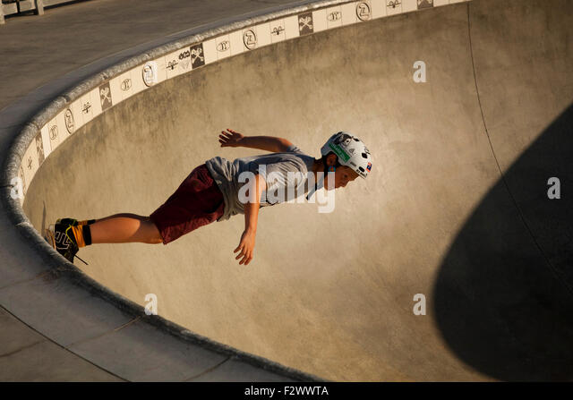 Skateboarder, Venice Beach, Los Angeles, Kalifornien Stockbild