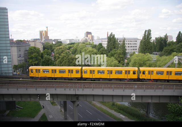 U-Bahn - Deutsches Technikmuseum Berlin-Kreuzberg. Stockbild