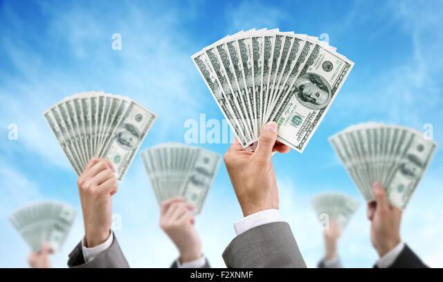 Crowdfunding-Finanzierung und Investition Stockbild