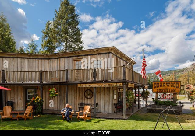 """Westlichen Stil Cafeteria im Greenwood oder """"Kanadas kleinste Stadt"""", British Columbia, Kanada, Nordamerika. Stockbild"""