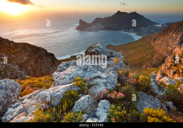 Hout Bay, vom Table Mountain National Park, Western Cape, Südafrika Stockbild