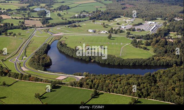 Luftaufnahme des Oulton Park Rennstrecke in Cheshire, Großbritannien Stockbild