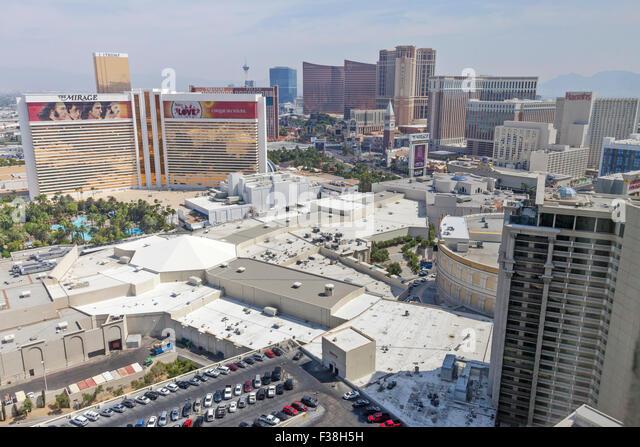Tagsüber Luftaufnahme des Resorts, Hotels und Casinos in Las Vegas, Nevada. Stockbild